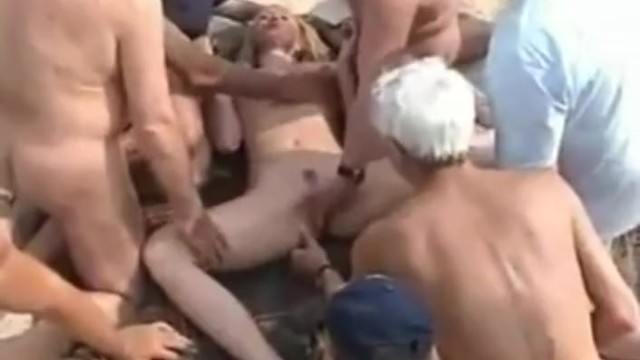 Horny Girlfriend with Strangers at Nude Beach