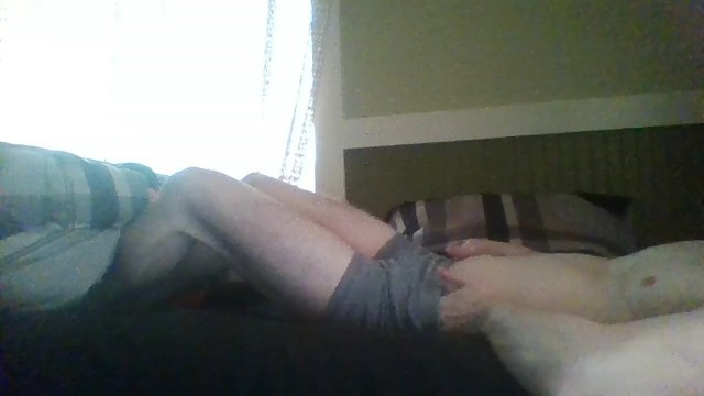 FTM Teases, Plays, and Fingers his FTM COCK