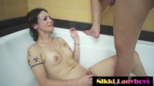 Nikki Ladyboys Golden Shower with Bruna Butterfly