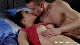Defloration of Elza - first Time Sex with Boyfriend