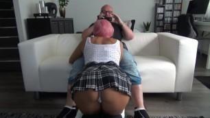 Teen Fantasy: a Student Sucks her Teacher's Cock for better Grades 2.0