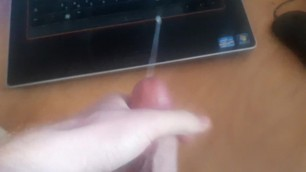 Jerking myself off and Shooting out a Nice Load of Cum