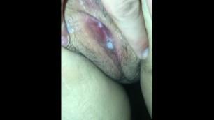 My Tight little Pussy Dripping Cum Doen my Legs Creampie