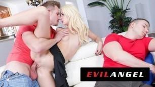 EVIL ANGEL Elsa Jean Fucks Sleeping Boyfriend's Best Friend