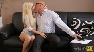 DADDY4K. Remarkable Candee Licious blows old dick and rides