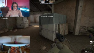 I Played CS GO With Lush Stucked In My Pussy - Cherry Adams